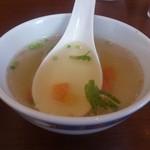 52354739 - ・ロモ サルタド コン アッロス スープ