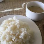 天瀬温泉カントリークラブ - ライスとスープ
