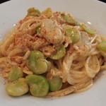 トラットリア ノーチェ - 桜エビと空豆のクリーム