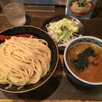 三田製麺所 - つけ麺 中 + ちょこっと野菜