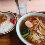 あけぼの食堂 - ラーメンミニカレー600円