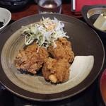 52368024 - ハーフ親子丼+ハーフ唐揚げランチ850円