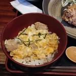 52368028 - ハーフ親子丼+ハーフ唐揚げランチ850円