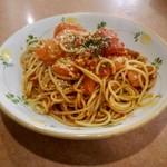52368679 - フレッシュトマトのスパゲッティ