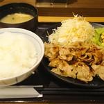 まいしょく家 高松兵庫町店 - おろし豚焼肉定食520円