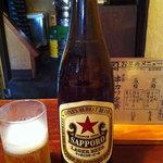 ゐ勢屋 - ビールはサッポロラガー