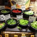 モクモク - モクモク・ビュッフェ(生野菜)スペース