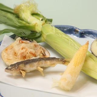 【季節のおすすめ】旬の食材の天ぷら