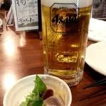 52378804 - お通しとビール