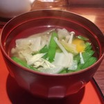 52380534 - ちゃんこスープ                       ランチにセットのスープは、お野菜がたくさん。