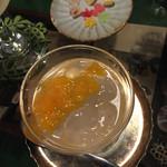 52380608 - わらび餅、デコポン仕様とおまけの琥珀糖(^∇^)