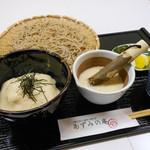 あずみの庵 - メニュー写真:厳選大和芋のとろろご飯と自慢の十割蕎麦のセットです。