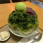 月ヶ瀬 - 宇治しるこ+抹茶アイス(白玉付き)