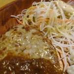びっくりドンキー  - カリーバーグディッシュ ハンバーグとサラダ部