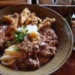5239359 - 2010/09/29肉舞茸天ぶっかけ大盛1000円+おにぎり100円
