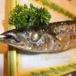 登志鮨 - 秋刀魚の塩焼き