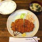 Oshokujimaiami - 御食事 まいあみ @新川 上ロースかつ定食 1,100円