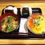 喫茶キラキラ - おにぎり B Set ¥490