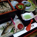 かの本陣 - 鮎そば膳(1800円)2009.1月