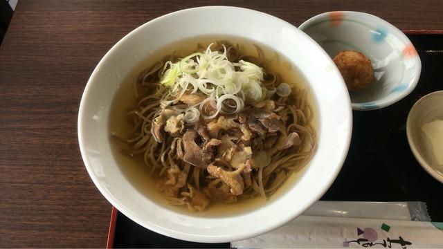 みはらし食堂 - 肉そば ¥700 (2016.4)