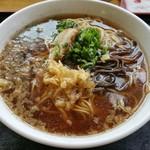 麺や 吉村 - 中華そば(天かす入れました)