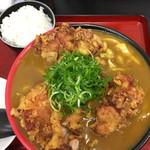 極楽うどん TKU - 鶏天カレーうどん(中盛り500g)小ごはん付きd(^_^o)