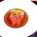 52406187 - 比内地鶏親子丼御膳(1,580円)の鶏刺し。コレはうまい。