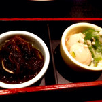 52406188 - 比内地鶏親子丼御膳(1,580円)の小鉢。