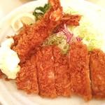 とんかつたちばな - コラボ定食☺︎ロース・海老フライ