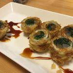 四季や - 細魚の春野菜巻き天ぷら