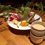 Med. ~Wine&Dining~ - 鎌倉野菜のバーニャカウダ!