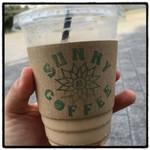 サニー コーヒー - 2016年6月11日  隅田川見ながらカフェオレ☆L480円。