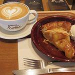 52414159 - カフェインレス ソイラテ                       青森産りんごのアップルパイ with アイスクリーム
