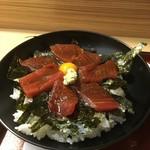 魚重 - 鉄火丼並(まぐろ7枚)