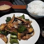 上州屋 - 上州屋炒め定食¥1,000+生卵¥50