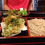 そば辰 - 小海老かき揚げ蕎麦