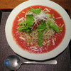 手打ち蕎麦 三乗 - 料理写真:夏季限定 完熟トマト蕎麦1,500円<2016年6月>