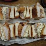 かま田 - ⑤和食店のカツサンド。       魚のアラからとったソースがあっさりで絶妙^^