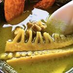 中国飯店 - 2016 グリーンカレーつけ麺と半ライス グリーンカレーアップ