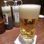 いきなり!ステーキ - 生ビール480円