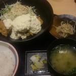 九州 熱中屋 - ランチのチキン南蛮セット・・・注文後すごい早さで出てきます。^^;