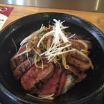ステーキ食堂 BECO - 国産牛ロースステーキ丼ダブル