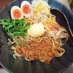 麺厨房 華燕 - 汁なし担々麺(冷)800円+味玉100円