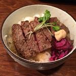 白肉屋 - ステーキ丼 並400円税別