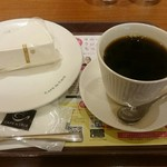 カフェ・ド・クリエ - ブレンドトールサイズ&北海道産クリームチーズケーキ