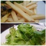 オー バカナル - ◆好きなフライドポテトもタップリですが、完食できず。m(__)m ◆野菜サラダ