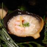 海鮮個室居酒屋 魚久 - 前菜:生湯葉の蟹銀餡仕立て