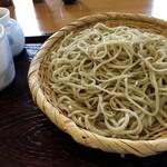 蕎麦にしざわ - 料理写真:「ざる(大盛り)」1,100円