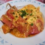 ホアマイ - ソフトシェルとトマトの卵炒め