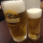 香港料理 蘭 - 生ビール大とグラス